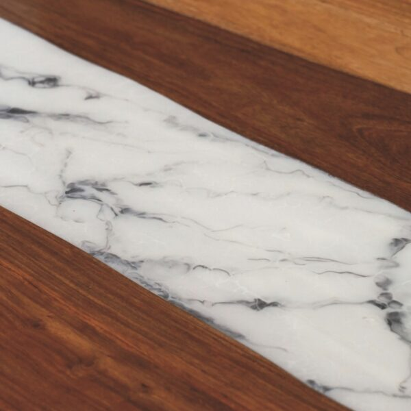 100675 Marble Resin Dining Table 200x100x75 Cms Homebience 2