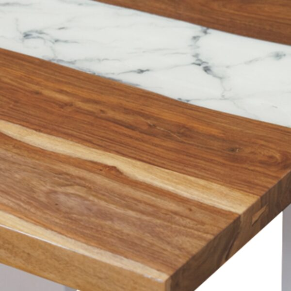 100675 Marble Resin Dining Table 200x100x75 Cms Homebience 3