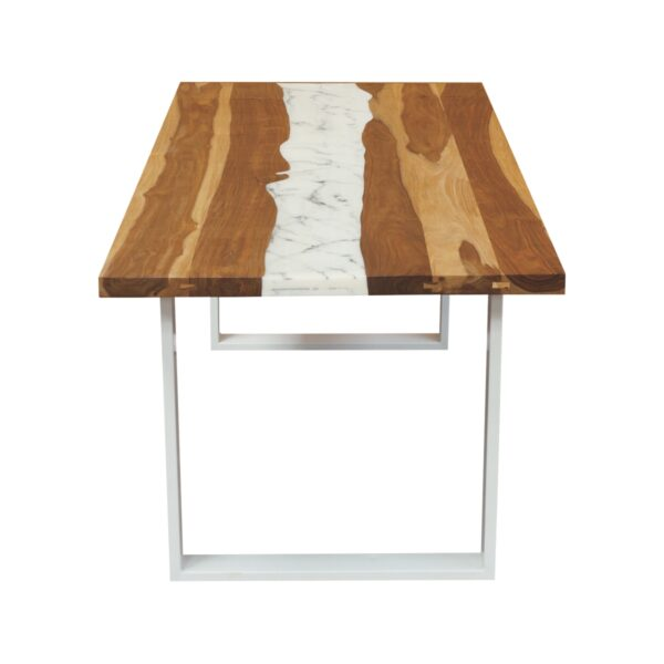 100675 Marble Resin Dining Table 200x100x75 Cms Homebience 4