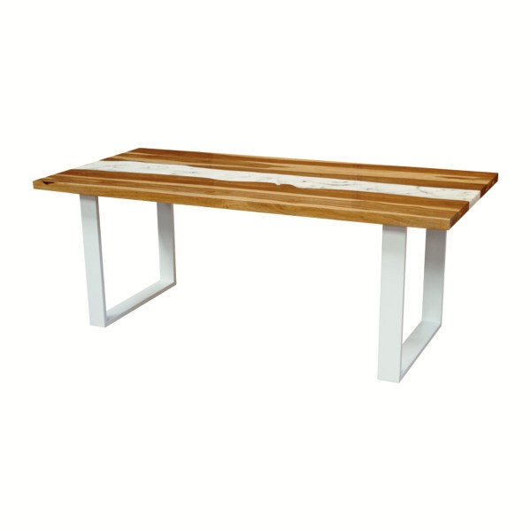 100675 Marble Resin Dining Table 200x100x75 Cms Homebience 5