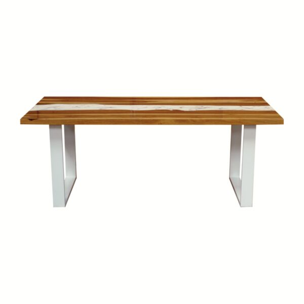 100675 Marble Resin Dining Table 200x100x75 Cms Homebience 6