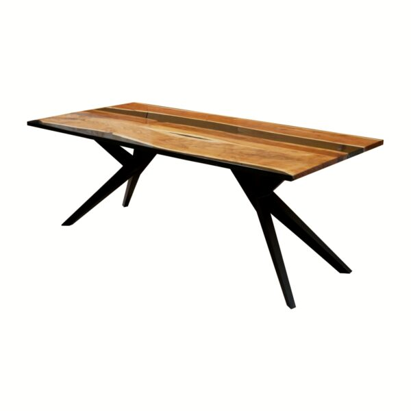 100676 Aero Carbon Resin Dining Table 200x100x75 Cms Homebience 2