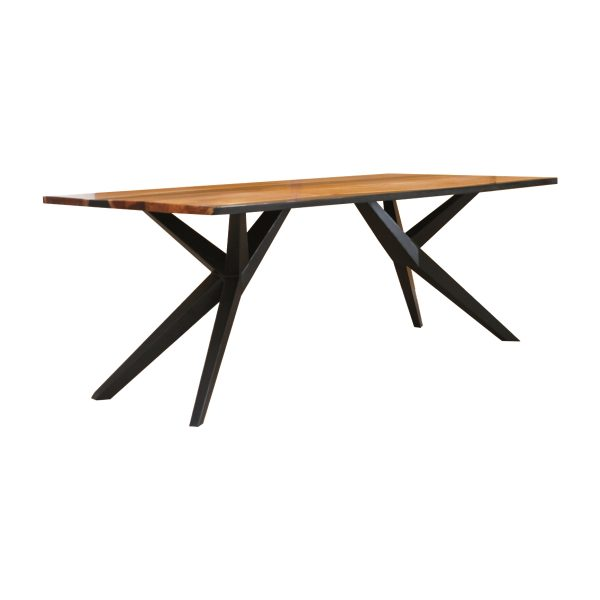 100676 Aero Carbon Resin Dining Table 200x100x75 Cms Homebience 4 600x600 1