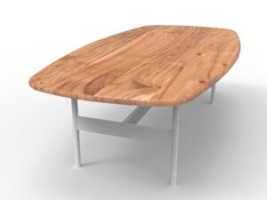Scandi Coffee Table Natural Teak (L)