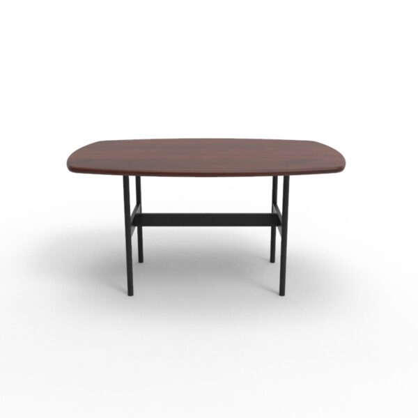 101005 6 Scandi Coffee Table Walnut Black legs 90x60x45 cms Homebience 4