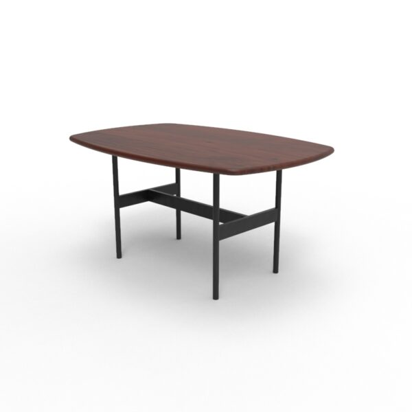 101005 6 Scandi Coffee Table Walnut Black legs 90x60x45 cms Homebience 5