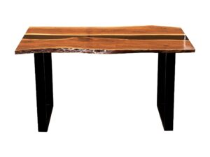Carbon Resin Dining Table 6 Seater