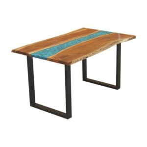Coral Resin Dining Table 6 Seater