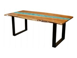 Coral Resin Dining Table 8-10 Seater
