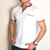 Cotton Tshirt Henley White