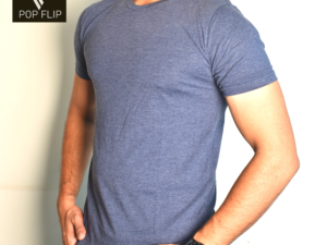 Cotton Tshirt Henley Dark Grey