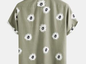 Little Daisy Print Turn Down Casual Holiday Shirts