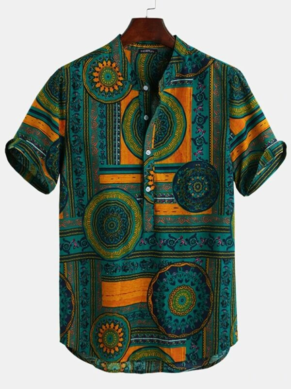 Floral Ethnic Shirts Dashiki Floral Casual Shirt